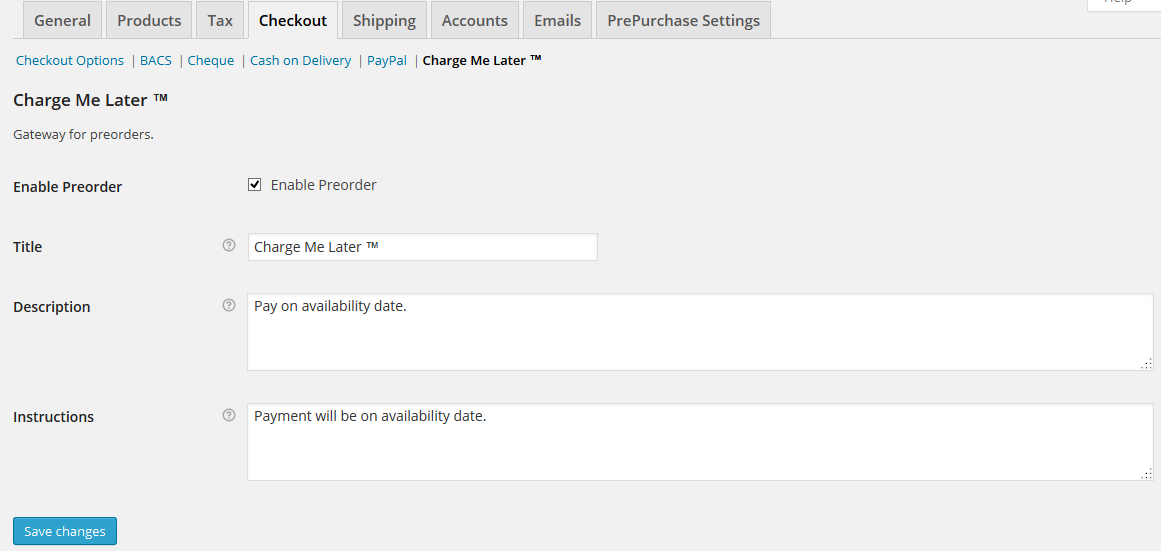 WooCommerce PrePurchase 4