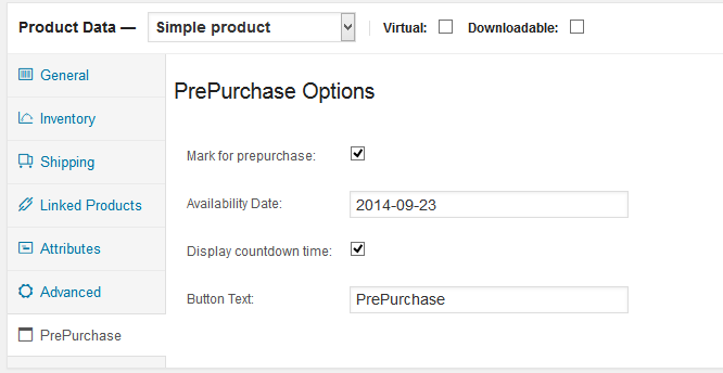 WooCommerce PrePurchase 1