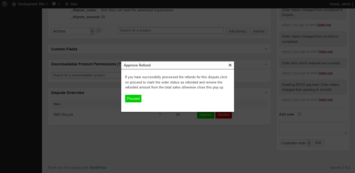 Woocommerce Refunds System 6