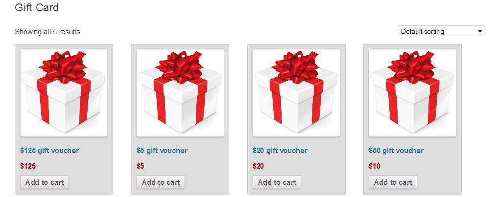 WooCommerce Gift Card 3